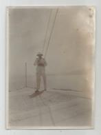 Photographie Casque Colonial écrit Docteur Couche ? Photo 7,7x 10,5 Cm Env - Guerra, Militares