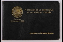 1936 4th SPANISH-AMERICAN POSTAL CONGRESS PRESENTATION FOLDER Containing 26 Different 1934-1935 Fine Mint Stamps With Va - Mexiko