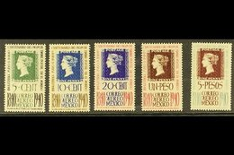 1940 AIR Penny Black Centenary Set (Scott C103/07, SG 648/52) Never Hinged Mint. (5 Stamps) For More Images, Please Visi - Mexiko