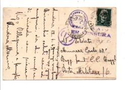 ITALIE CARTE POUR LA FRANCE EXAMINEE PAR LA CENSURE 1943 - Marcofilie - EMA (Print Machine)