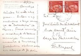 Spain & Marcofilia, San Millan De La Cogolla, Logroño, San Felices, Haro A Leça Da Palmeira Portugal 1975 (8) - 1971-80 Storia Postale