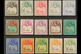 1922-37 Badge Wmk Mult Script CA Set Complete To 10s, SG 97/112, Fine Mint (15 Stamps). For More Images, Please Visit Ht - St. Helena