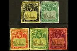1922-37 Multi CA Watermark Set, SG 92/96, Fine Mint (5 Stamps) For More Images, Please Visit Http://www.sandafayre.com/i - St. Helena
