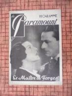 Programme En 1933 Paramount Le Maître De Forges / Les Aventures Du Roi Pausole - Magazines