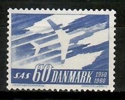 Denmark 1961 Dinamarca / Aviation SAS Airplanes MNH Aviación Aviones Luftfahrt / Cu14107  C5-20 - Aviones