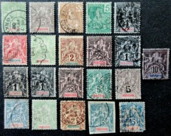 INDOCHINE Type Groupe / Sage Lot De 21 Timbres Oblitérés Used - Gebraucht