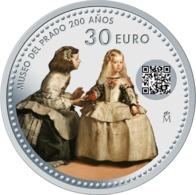 """ESPAÑA  /  SPAIN  30€  2.019  2019  """"MUSEO DEL PRADO 200 AÑOS""""  PLATA / SILVER  SC/UNC   T-DL-12.320 - España"""