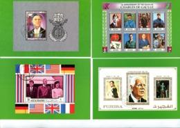 Thème Général De Gaulle - Série De 16 Cartes Postales Neuves Et Numérotées - R 5698 - De Gaulle (Général)
