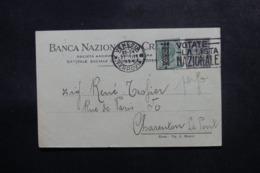 ITALIE - Carte Commerciale De Venezia Pour La France En 1924, Affranchissement Perforés - L 47744 - 1900-44 Victor Emmanuel III
