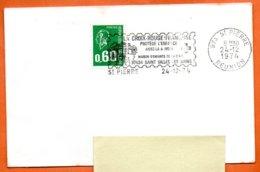 974 ST PIERRE LA CROIX ROUGE PROTEGE L'ENFANCE   1974 Lettre Entière N° RR 334 - Postmark Collection (Covers)