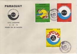 Paraguay 1974 UPU U.P.U. Weltpostverein Universal Postal Union Centenary FDC - UPU (Union Postale Universelle)