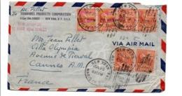 USA ETATS UNIS AFFRANCHISSEMENT COMPOSE SUR LETTRE POUR LA FRANCE 1933 - Briefe U. Dokumente