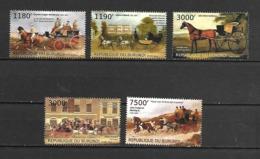 Burundi 2012 Animals - Horses - Transport - Carriages MNH - Horses