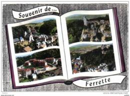 Carte Postale 68. Ferrette à Livre Ouvert Vue D'avion   Très Beau Plan - Ferrette