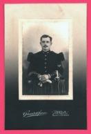 CDV GIRARDOT Frères Verdun Succursale à Stenay - Portrait Militaire De La 162e - Uniforme Et Sabre - Guerra, Militares