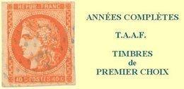TAAF, Année Complète 1990**, Poste N°148 à N°154, P.A. N°110 à N°114 Y & T - Terres Australes Et Antarctiques Françaises (TAAF)