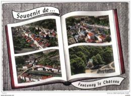 Carte Postale 88. Fontenoy-le-Chateau  Vue D'avion à Livre Ouvert  Trés Beau Plan - France