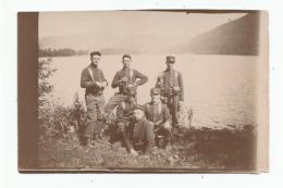 Photographie 88 Vosges 5 Chasseurs Manoeuvre Secteur Lac Gerardmer Photo 5,5x8,3 Cm Env - Guerra, Militares