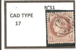 Y&T N°51 CLASSIQUE - 1871-1875 Cérès