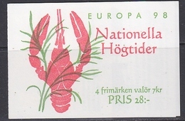 Europa Cept 1998 Sweden Booklet ** Mnh (45244B) - Europa-CEPT