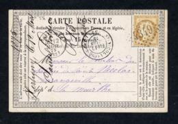 N° 55 - Bistre -s/CP  OB Losange GC 4349 De Xertigny (Vosges)  Pour St Nicolas De Varangeville (Meurthe) 12/3/1875 - 1871-1875 Cérès
