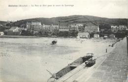 CPA 50 Manche Dielette Le Port Et Abri Pour Le Canot De Sauvetage - Frankreich