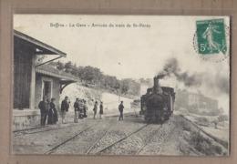 CPA 07 - BOFFRES - La Gare - Arrivée Du Train De Saint-Péray - SUPERBE GROS PLAN LOCOMOTIVE ANIMATION - Autres Communes