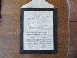 Monsieur Désiré-Jean Comte CENT 17me R.A.D. 20me Bie CLASSE 35 DESVAUX St MAURICE - Dokumente