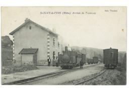 CPA 69 ST-IGNY-DE-VERS ARRIVEE DU TRAMWAY - Francia