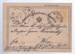 AK-div-32- 502 -  Ganzsache - Niederlande-  Von Breda Nach Wien - 1875 - Postal Stationery