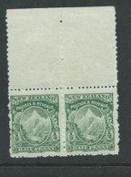 New Zealand RARE 1902 No Watermark Pair Of 1/2d Mnh Perf 14x11 Cv £260 Mnh Margins Were Hinged - Nuovi