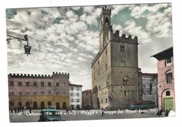 1244 - VOLTERRA PISA PIAZZA E PALAZZO DEI PRIORI ANIMATA 1967 - Pisa