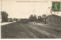 ENVIRONS DE RENNES. LA BROSSE. LA CHAPELLE. La Gare. Tramway. - Other Municipalities