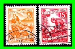 YUGOSLAVIA SELLO AÑO 1951-52 GRABADOS - 1945-1992 Socialist Federal Republic Of Yugoslavia