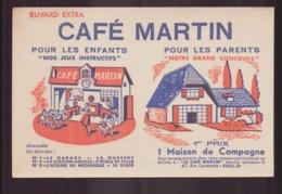 "Buvard ( 20 X 13 Cm ) "" Café Martin "" - Café & Thé"