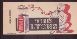 """Buvard ( 21 X 9 Cm ) """" Thé Lyons """" - Café & Thé"""