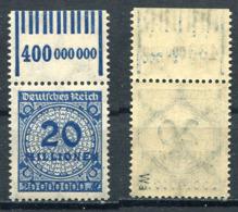 D. Reich Michel-Nr. 319Wa Oberrand Postfrisch - Geprüft - Deutschland