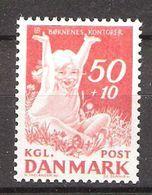 Denmark 1965 National Children's Fund. Laughing Girl In The Grass   Mi 436 Unused Never Hinged - Danimarca