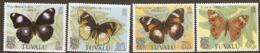 Tuvalu  1981 158-61  Butterflies    Unmounted Mint - Tuvalu