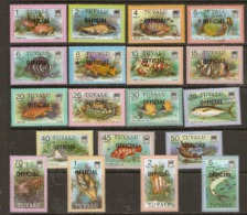 Tuvalu  1981 Fishes  Official Overprint SG 01-19     Unmounted Mint - Tuvalu