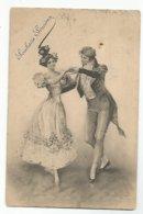 Illustrateur Vienne  CPA Couple Dansant  Souhaits Sinceres - Vienne