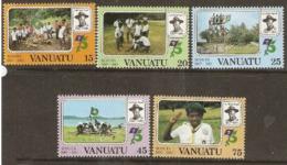 Vanuata   1982 SG 345-9 Scouts    Unmounted Mint - Vanuatu (1980-...)