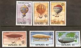 Vanuata   1983 SG 366-71  Anniversary Of Manned Flight    Unmounted Mint - Vanuatu (1980-...)
