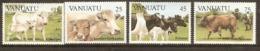 Vanuata   1984 SG 386-9  Cattle   Unmounted Mint - Vanuatu (1980-...)