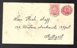 UTR. N. * PKXP No. 2 B (= Train Nässjö – Malmö) 1890 Norrkoping > Stuttgart Untere Neckatstrasse 139 (230) - Storia Postale