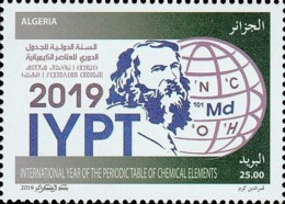 ALGERIE ALGERIA 2019 JOINT ISSUE COMMON DESIGN UNESCO INTERNATIONAL YEAR PERIODIC TABLE CHEMICAL ELEMENTS CHEMISTRY MNH - Emissions Communes