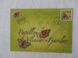 Planche De Timbres - Belgique - Papillons - Collections