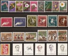 Yugoslavia, 1957, Complete Year, MNH (**) Michel 812-838 - Yugoslavia