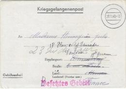 STALAG III A 15 GEPRÜFT 29 Novembre 1940 - Besetztes Gebiet En Rouge - Enveloppe Luckenwalde Pour Toulouse - Marcofilie (Brieven)