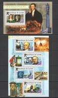 ST192 2015 GUINEE GUINEA ART 175TH ANNIVERSARY PENNY BLACK KB+BL MNH - Briefmarken Auf Briefmarken